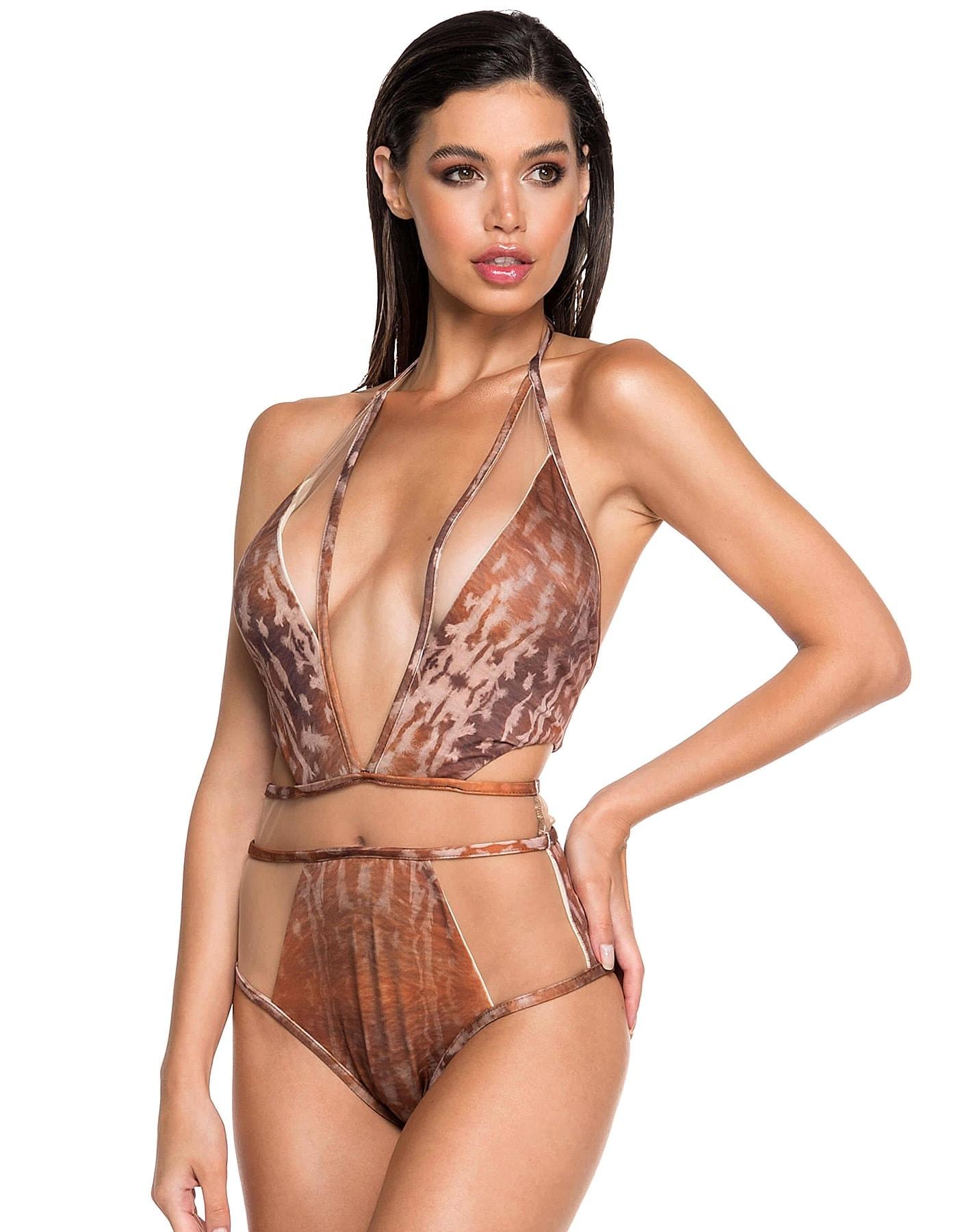 Body Bañador Estampado Camel Edición Limitada | Body Tule Sahara D