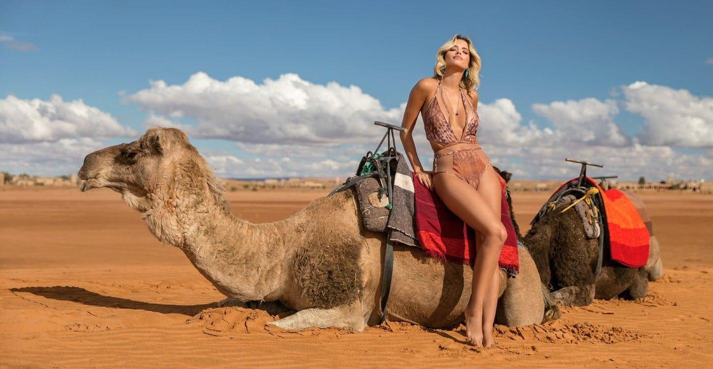 Body Bañador Estampado Camel Edición Limitada | Body Tule Sahara J