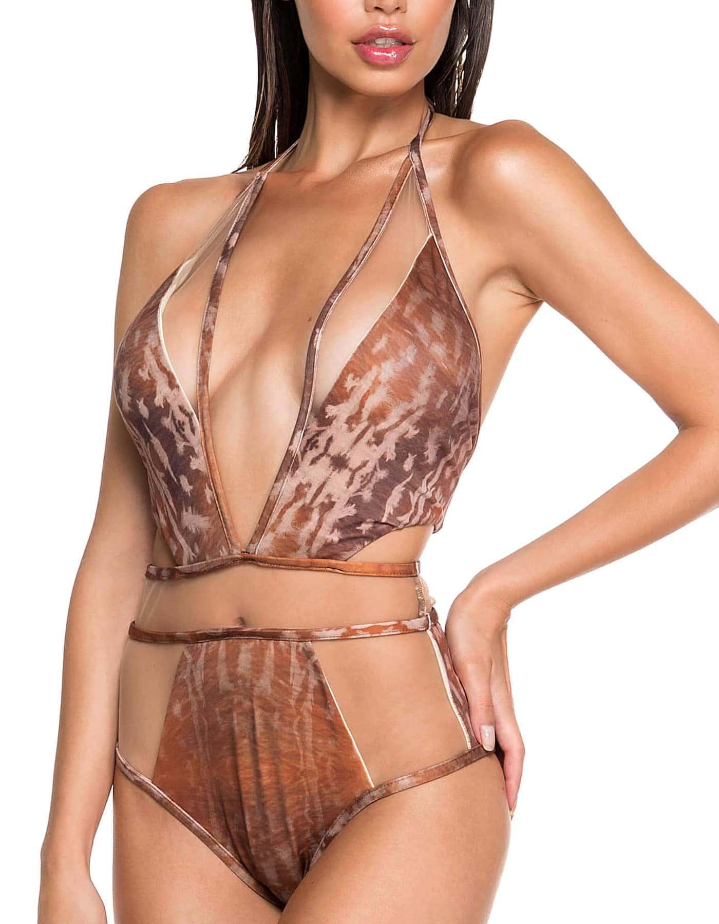 Body Bañador Estampado Camel Edición Limitada | Body Tule Sahara