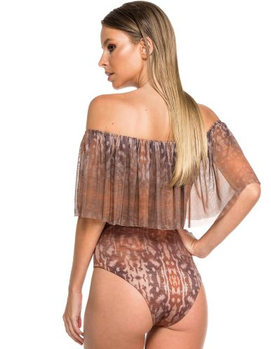 Body Bañador Estampado Camel Edición Limitada | Body Tulum Sahara B