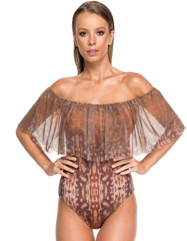 Body Bañador Estampado Camel Edición Limitada   Body Tulum Sahara C