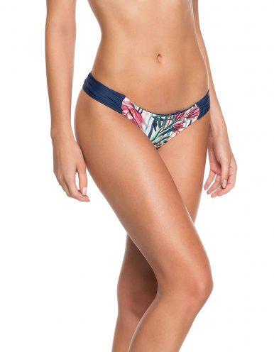 Braguita Bikini o Tanga reversible floral con drapeado en lateral de cintura Anne