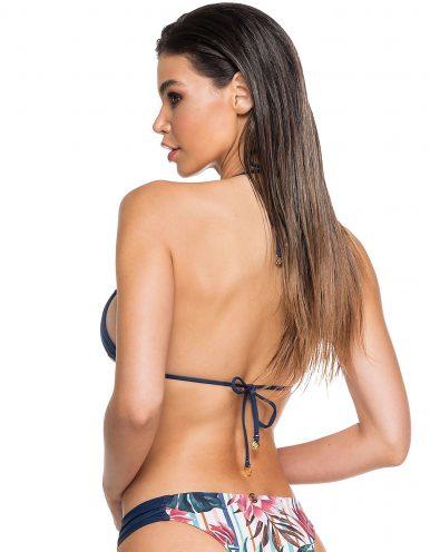 Top Bikini flores, copa removible y anudados en cuello/espalda | Anne B
