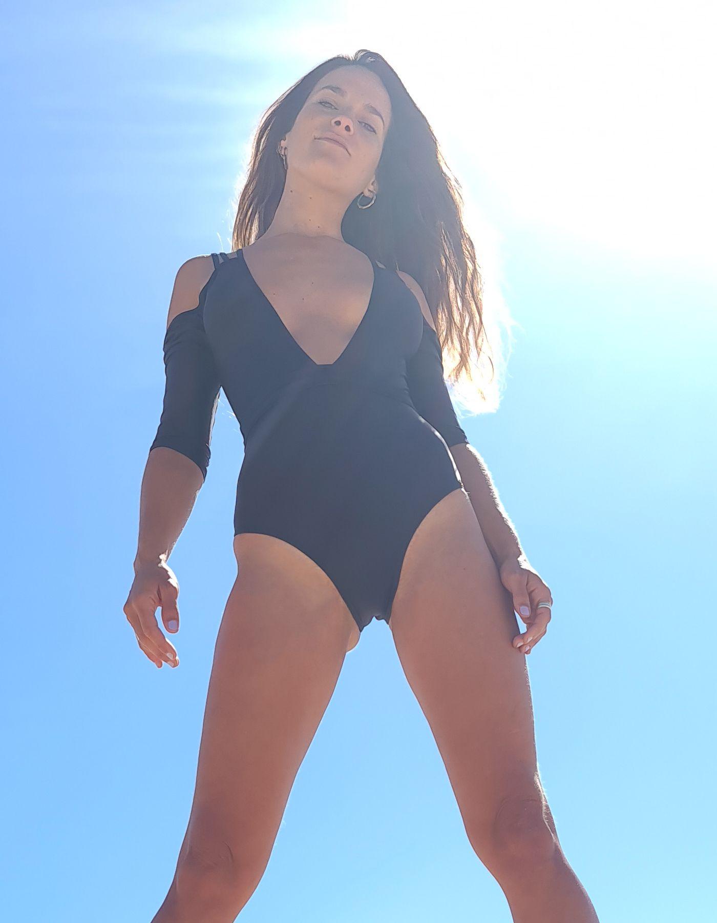 Body Bañador Negro Manga corta y cinturón | Lua Morena