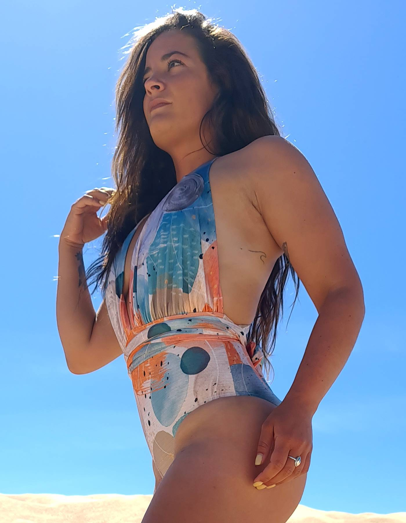 Body Bañador con escote en V y anudado versátil | Lua Morena