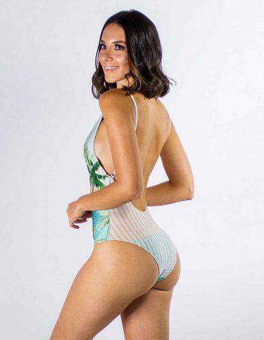 Body Bañador estampa tropical y espalda al aire Lua Morena-33644013-E