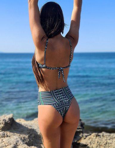 Top Bikini verde con aros y estampado geométrico Maryssil-617TOPESTAMPADO61E+717TANGAESTAMPADA61E-B