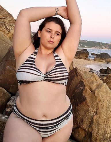 Top Bikini Plus Size triangulo sin copas animal print Classic-B