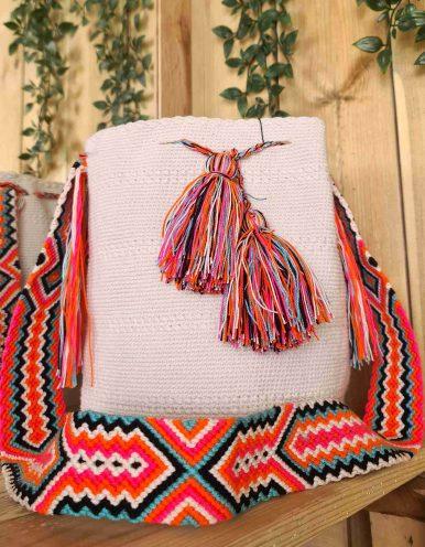 Bolso Wayuu Artesanal,Auténtico y Original (sólo 1 igual) LISO A