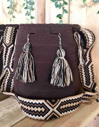 Bolso Wayuu Artesanal,Auténtico y Original (sólo 1 igual) LISO D