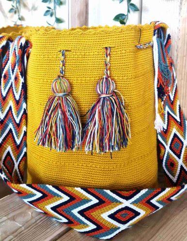 Bolso Wayuu Artesanal,Auténtico y Original (sólo 1 igual) LISO E