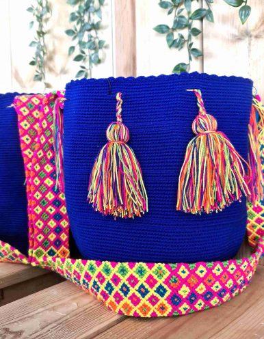Bolso Wayuu Artesanal,Auténtico y Original (sólo 1 igual) LISO F