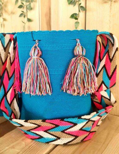 Bolso Wayuu Artesanal,Auténtico y Original (sólo 1 igual) LISO G