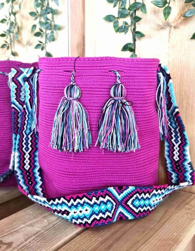 Bolso Wayuu Artesanal,Auténtico y Original (sólo 1 igual) LISO H
