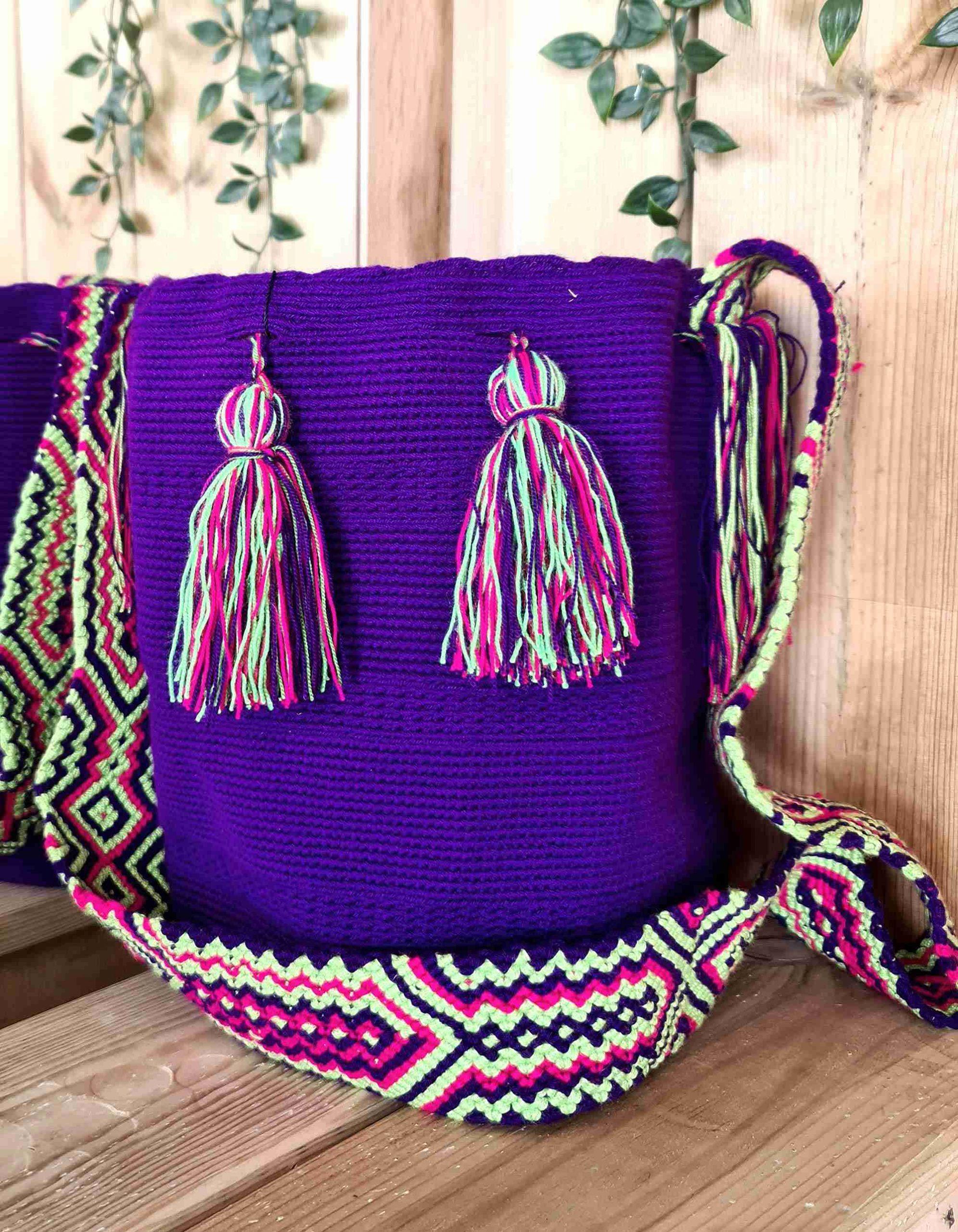 Bolso Wayuu Artesanal,Auténtico y Original (sólo 1 igual) LISO I