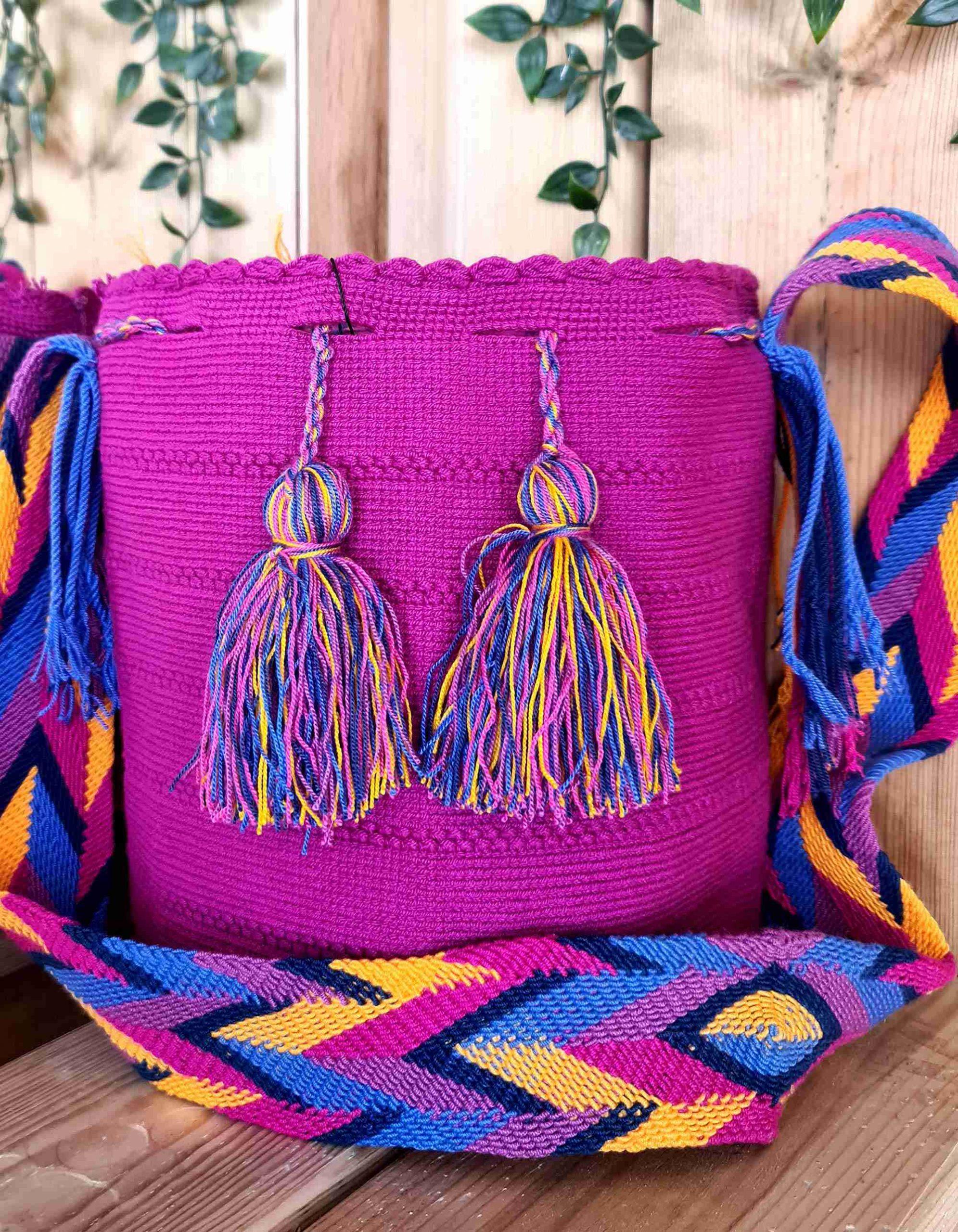 Bolso Wayuu Artesanal,Auténtico y Original (sólo 1 igual) LISO K