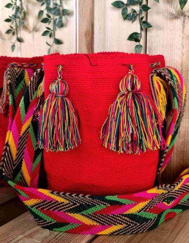Bolso Wayuu Artesanal,Auténtico y Original (sólo 1 igual) LISO M