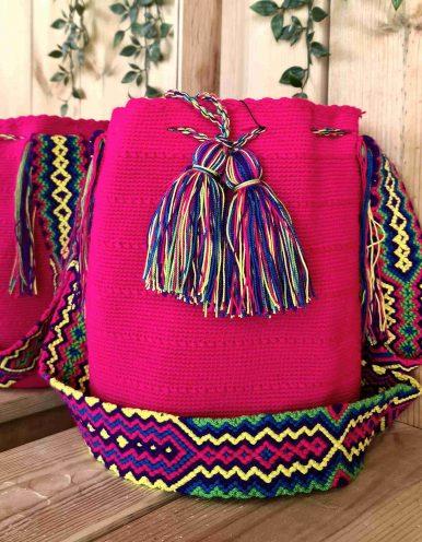 Bolso Wayuu Artesanal,Auténtico y Original (sólo 1 igual) LISO S
