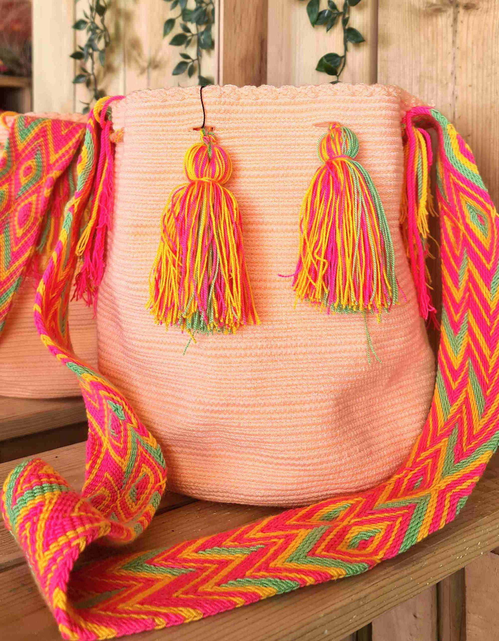 Bolso Wayuu Artesanal,Auténtico y Original (sólo 1 igual) LISO T