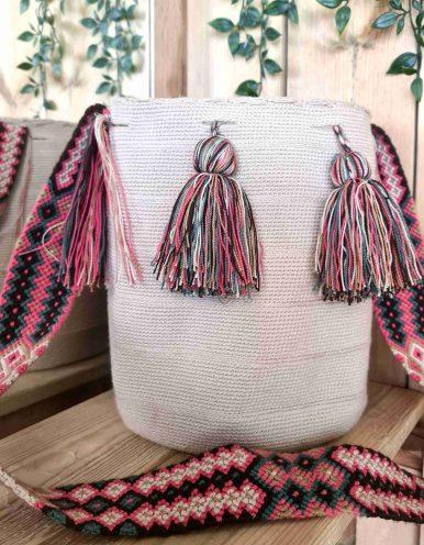 Bolso Wayuu Artesanal, Auténtico y Original (sólo 1 igual) LISO U