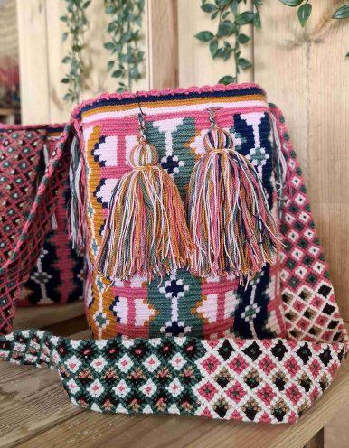 Bolso Wayuu Artesanal, Auténtico y Original (sólo 1 igual) MOTIVOS TRIBALES C